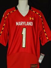Maryland Terrapins Under Armour Diggs Football Jersey Mens Sizes Red Big10 Terps