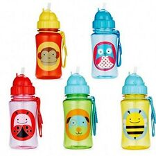 Baby Kids Children Feeding Dishes Utensils Zoo Drinking Straw Bottle Sippy Cups