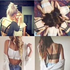 Women Bralette Cage Caged Back Cut Out Padded Bra Sexy Celebrity Bralet Crop Top