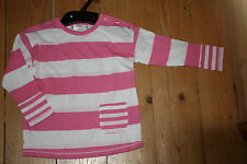 Girls Long sleeved top pink stripe, 2,3,4,5,6,7 yrs  ( ex marks and spencers )