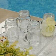 Classic Mason Jar Drinking Glass Set Custom Engraved Glassware 16oz