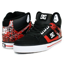 DC SPARTAN HI WC MENS HIGH TOP SKATE SHOES BLACK / WHITE / ATHLETIC RED