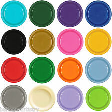 20 Plastic 9in Colour Plates Wedding Birthday Tableware Party Supplies Colours