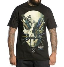 SULLEN CLOTHING CHASE BLACK TATTOO INK PAINT SKULL PUNK GOTH T SHIRT S-5XL
