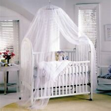 New Baby Kids Canopy / Mosquito Net for Cot White/Pink
