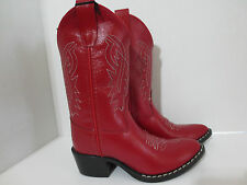 Red Cowboy Boots for Boys or Girls by Old West-Red Leather-New- Western