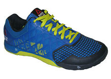 Reebok Crossfit Nano 4.0 Men's Shoes Blue/Chartreuse/Navy NEW M43437 Many Sizes