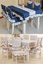 Home Decor Dinner Table Cloth Cover Chair Back Cover Seat Cushion Pad
