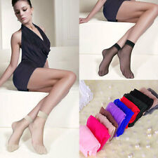 10 Pairs Women Lady Ultra-thin Elastic Silky Short Silk Stockings Ankle Socks