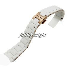 New 20 23 mm White Silicone Rubber Wrapped Stainless Steel Watch Band Curved End