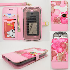 IDENTITY Pink Bloom Universal Wallet Phone Case Pouch Flip Cover For LG
