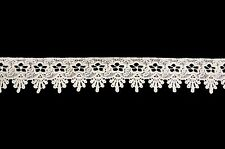 """Unotrim 1 and 3/4"""" Ivory Rayon Floral Venice Lace Trim Sewing Notions by Yardage"""