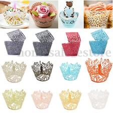 12/24 Cup Cake Wrappers Case Wedding Birthday Decorating Party Wrap Paper XMAS