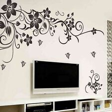 Creative Butterfly and Flower Removable Vinyl Decal Art Decor Wall Stickers