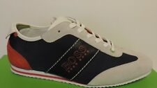 New hugo boss Country Package lace up sneakers leather textile upper red navy