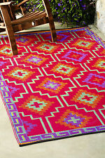 Fab Habitat Indoor Outdoor Patio Rug Mat Lhasa Orange~Purple, Choose Size