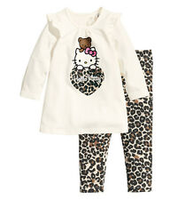 Baby Girls Kids Children Clothing Set Pajamas Sleepwear Pants Nightwear Leopard