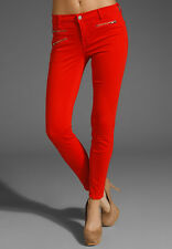 NEW J Brand Red Biker Chic Skinny Jeans 26 Retail $225 821O241