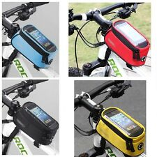 """Roswheel Bike Bicycle Tube Frame Bag Pouch for 4.2""""/4.8""""/5.5"""" Cellphone 3 Colors"""