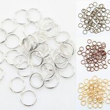 Wholesale New Gold & Silver Plated 6 Colors Metal Double Split Jump Rings