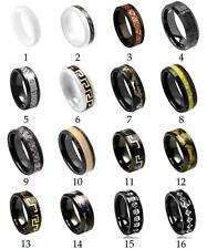Men's Ceramic Wedding Ring Classic Comfort Fit Band New Quality Fashion Jewelry
