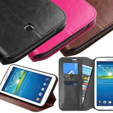 For Samsung Galaxy Tab 3 7.0 Leather Flip Case Cover Wallet W/Stand T210R