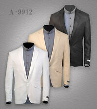 New Men's Linen Blazer Suit Jacket UK S-XL