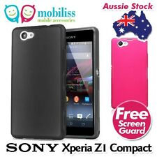 TPU Gel Jelly Silcone Case Cover Skin Screen Guard for Sony Xperia Z1 Compact