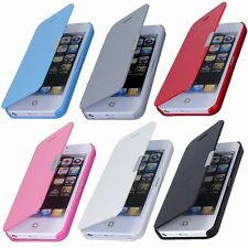 Flip Leather Magnetic Hard Wallet Case Cover For Apple iPhone 5C 5S 5 6 Plus USA