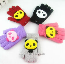 Cute Panda Gloves For School Boys/Girl Casual Winter Warm Hands Protection