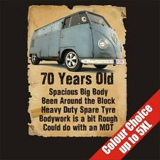 70 Year Old VW Transporter Funny 70th Birthday Gift T-Shirt 16 Colours - to 5XL