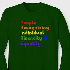 PRIDE Definition Equality Same Love Rights Diversity Pro Gay Long Sleeve Tee
