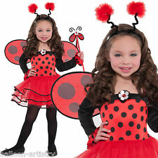 Childs Girls Ballerina Ladybird Lady Bug Fairy Fancy Dress Costume - Ages 3-6