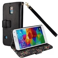 Country Style Lanyard Function Wallet PU Leather Case  For Samsung Galaxy S5