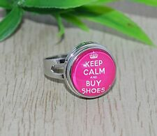 Ring mit Button Druckknopf +++ große Auswahl ++ KEEP CALM and... snap chunks