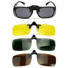 Polarized Day Night Vision Clip-on Flip-up Lens Sunglasses Driving Glasses CGYG