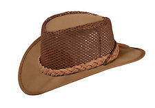 TRACKER CANVAS BREEZY HAT - leather hat band - Tough and Rugged ... M (2508)
