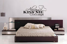 "ALWAYS KISS ME GOODNIGHT Wall Art Graphics Vinyl Decal Letters 30x14"" or 50x23"""