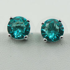 Blue Topaz 925 Sterling Silver Jewelry Set Earrings TE543
