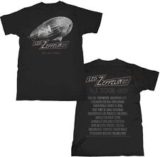 LED ZEPPELIN CITIES 1977 US TOUR SLIM FIT CLASSIC ROCK MUSIC T TEE SHIRT S-2XL