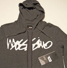 MOSSIMO Men's Hoodie / Jumper - CHARCOAL GREY Zip Up - RRP $69.95 (M,L & XL)