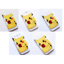 Cute Pokemon Pikachu Pattern Hard Case Cover For Apple iPhone Samsung Galaxy