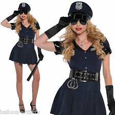 Adults Police Woman Rita Dem Rights Sexy Cop Hen Party Fancy Dress Costume