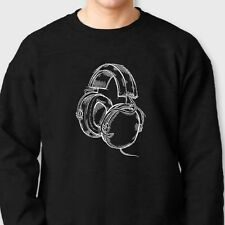 HEADPHONES Cool DJ Rave Party T-shirt Beats Hip Hop Band Music Crew Sweatshirt