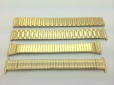 16mm 18mm 20mm 22mm Gold Tone Stainless Stretch Expansion Watch Band Twist Flex