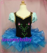Frozen Girls Elsa Anna Ballet Tutu Dancewear Party Dress 0-8Y Kids Skirt
