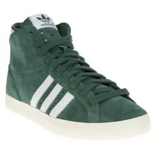 New Mens adidas Green Basket Profi Suede Trainers Hi Top Lace Up