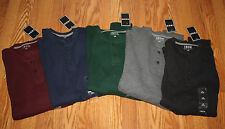 NWT Mens Izod Thermal Henley Waffle Textured Long Sleeve Shirt M L XL 3XL