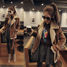 New Arrival Women's Fashion Suede Jacket Warm Lamb Wool Outcoat Top With Belt