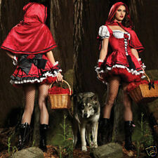 Halloween Little Red Riding Hood Costume Fancy Dress Costume Womens Sexy Cosplay